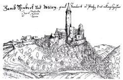 zřícenina hradu Šelmberk - 17.století