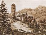 zřícenina hradu Šelmberk 1801